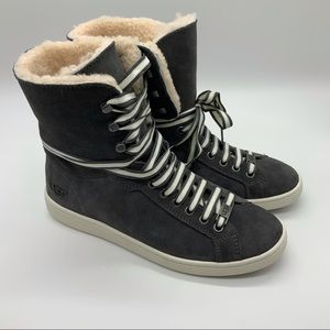 NWT UGG STARLYN BOOTS CHARCOAL 7.5